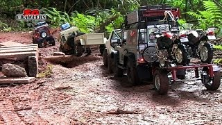 getlinkyoutube.com-Axial SCX10 Honcho Dingo Unimog RC4WD Gelande Land Rover Defender bike trailer RC Offroad Adventures