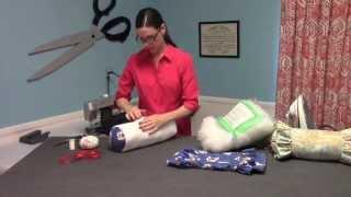 getlinkyoutube.com-Ruffled Neckroll Pillow - Video preview from HomeDecGal