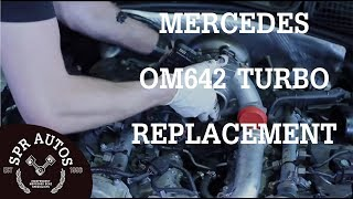 getlinkyoutube.com-Mercedes OM642 v6 cdi Turbo replacement & inlet port shut off motor