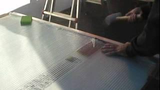 getlinkyoutube.com-Greenhouse polycarbonate panel installation