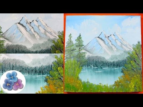 Como Hacer Paisaje Nevado al Oleo FACIL *Oil Painting* Paisajes para Pintar Pintura Facil