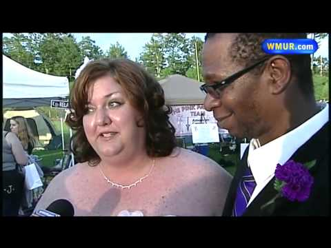 Couple marries at fundraising walk