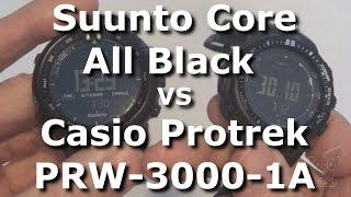 getlinkyoutube.com-Suunto Core All Black vs Casio Protrek PRW-3000-1A - Side by Side
