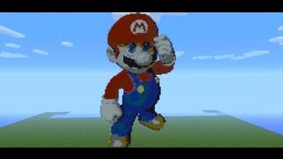 getlinkyoutube.com-Minecraft Mario Pixel Art
