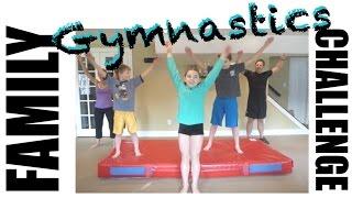 Family Gymnastics Challenge   Flippin' Katie