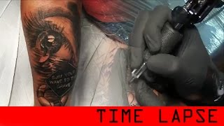 getlinkyoutube.com-Surf's up tattoo - time lapse
