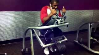 NLZ using the Ab Coaster at Planet Fitness Day 16