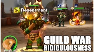 SUMMONERS WAR : Guild War vs  Some Asian Dudes Guild Thingy