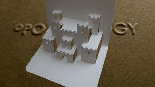 getlinkyoutube.com-Pop Up Castle Card Tutorial - Origamic Architecture