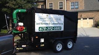 2016 dump trailer leaf removal set up