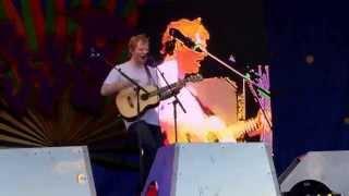 "getlinkyoutube.com-""I Was Made To Love Her"" Ed Sheeran at Jazzfest NOLA 5/2/15 Stevie Wonder cover"