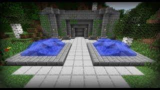 getlinkyoutube.com-Secret Entrance with Ocelots - Minecraft
