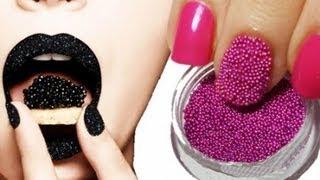 getlinkyoutube.com-Caviar Nails DIY / Икорный 3D маникюр