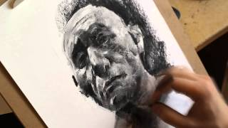getlinkyoutube.com-Portrait drawing with charcoal