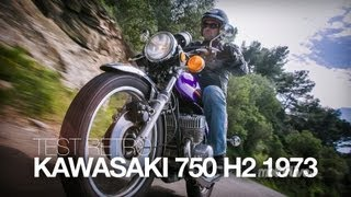 getlinkyoutube.com-TEST RETRO | Kawasaki 750 H2 1973