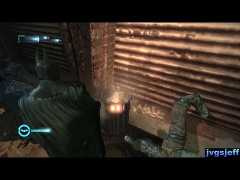 Watch his foot! (Batman: Arkham City Glitch)