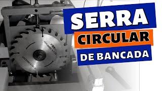 Serra Circular de bancada caseira com 45° Graus - Luciano Mendes