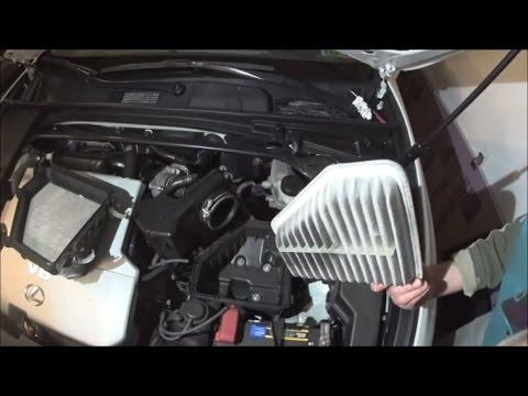 Lexus ES350 engine air filter replacement