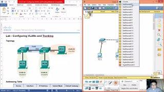 getlinkyoutube.com-6.2.2.5 - 3.2.2.5 Lab - Configuring VLANs and Trunking