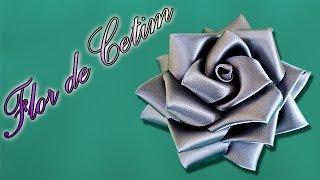 getlinkyoutube.com-Rosa de fita de cetim   Passo a Passo - DIY