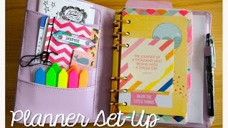 getlinkyoutube.com-Kikki-K Medium Lilac and Gold Time Planner Setup