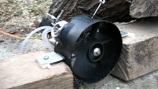 getlinkyoutube.com-Kamdax Glow Ducted Fan 0,9cc engine break-in