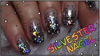 getlinkyoutube.com-Silvester Nägel / Easy New Year's Eve Nail Art / Einfaches Nageldesign