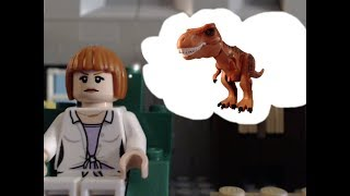 getlinkyoutube.com-The new dinosaur - Lego jurassic world stop motion