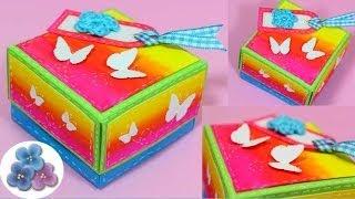 getlinkyoutube.com-Como Hacer una Caja DIY *How to Boxes* Origami Hacer Cajas Decoradas Scrap Gift Box Pintura Facil