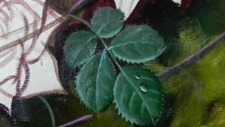 getlinkyoutube.com-Como pintar folhas de rosas
