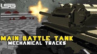 getlinkyoutube.com-Space Engineers - Main Battle Tank M1A1/M60 Mechanical Tracks, Dakka dakka dakka!