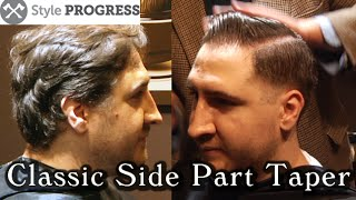 getlinkyoutube.com-Vintage Hairstyle - Traditional Men's Taper Haircut With Side Part | Style Progress