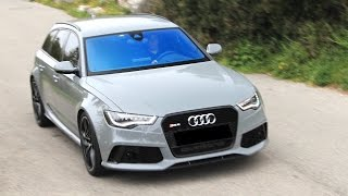 getlinkyoutube.com-Audi RS6 Sport Exhaust SCARY Mountain Ride - A Family Supercar!