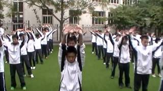 getlinkyoutube.com-Chinese Morning Exercises Vocational High School #12