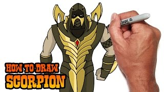 getlinkyoutube.com-How to Draw Scorpion (Injustice: Gods Among Us) Video Lesson