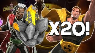 getlinkyoutube.com-Opening 20x Hyperion and Doctor Voodoo Crystals! - Marvel Contest Of Champions