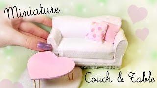 getlinkyoutube.com-Cute Miniature Couch & Table Tutorial // Dolls/Dollhouse