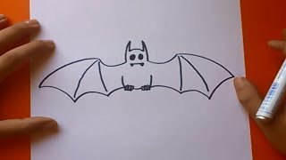 getlinkyoutube.com-Como dibujar un murcielago paso a paso | How to draw a bat