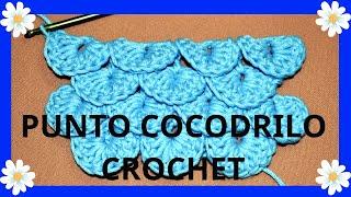 getlinkyoutube.com-Como tejer el Punto Cocodrilo o Escama en tejido crochet tutorial paso a paso.