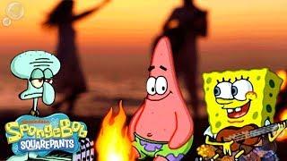 getlinkyoutube.com-SpongeBob Squarepants | 'The Campfire Song' Wild Remix | Nick