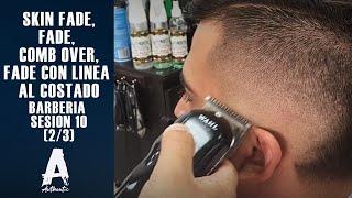 getlinkyoutube.com-Barberia Sesion 10 (Skin fade, fade, Comb over, fade con linea al costado)   (2/3)