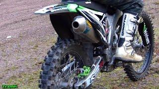 getlinkyoutube.com-Kawasaki KX250F FMF MegaBomb Soundcheck & Test Ride