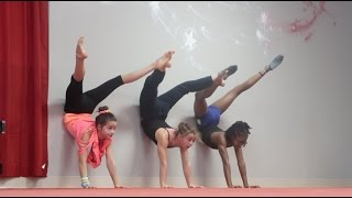 getlinkyoutube.com-Stretch, Jump, and Turn | Gymnasts at the Dance Studio | Acroanna