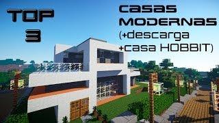 getlinkyoutube.com-TOP 3 Casas MODERNAS Minecraft
