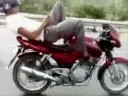Motorcyclist send SMS message while driving!