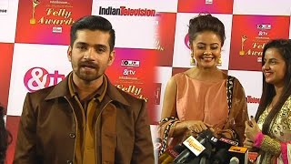 getlinkyoutube.com-Devoleena Bhattacharjee and Vishal Singh at 14th ITA Red Carpet