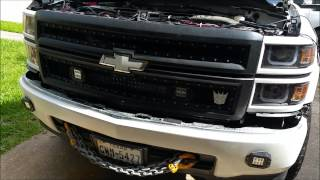 getlinkyoutube.com-2014 silverado grill light bar
