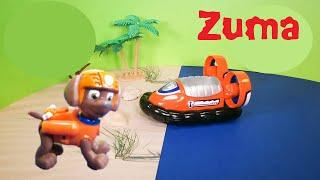 getlinkyoutube.com-PAW PATROL Nickelodeon Paw Patrol Zuma Hovercraft Paw Patrol Video Toys