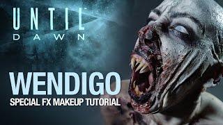 getlinkyoutube.com-Until Dawn wendigo halloween makeup tutorial