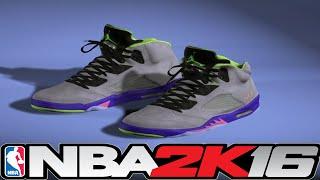 getlinkyoutube.com-NBA 2K16 Shoe Creator Jordan 5 Bel Air ⋆#NBA2K16⋆